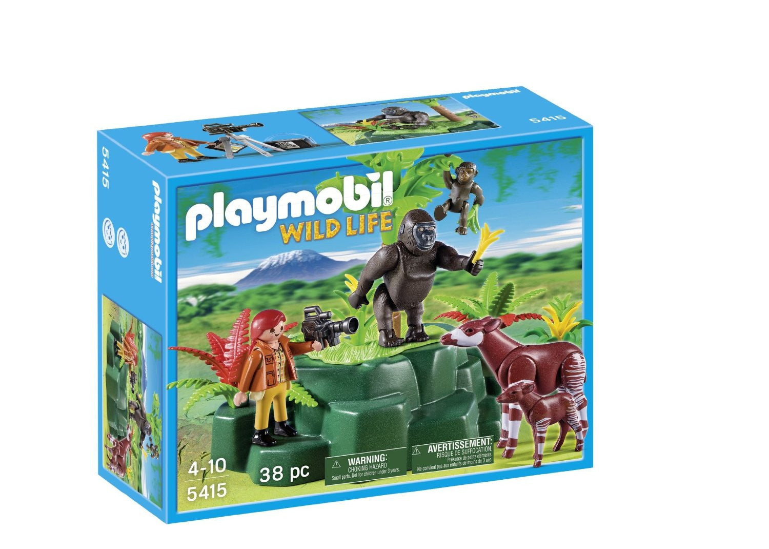 Playmobil 5415 Wild Life Gorillas and Okapis - Wild Willy