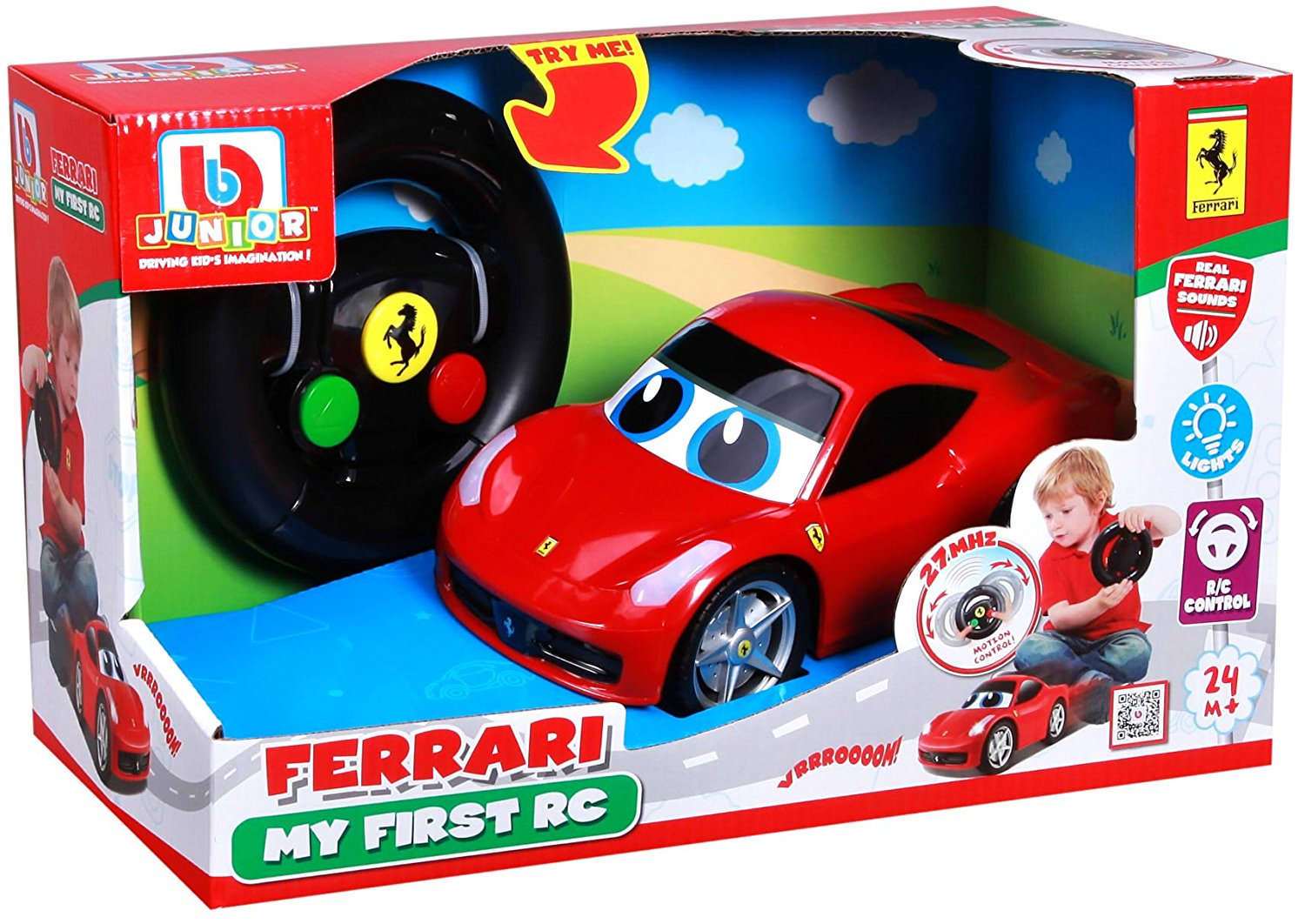 Bburago Junior FERRARI MY FIRST R/C 458 ITALIA - Wild Willy