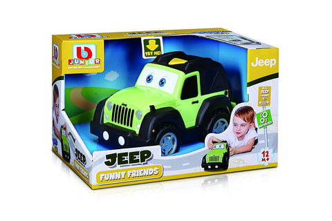 BB Junior Play & Go Funny Friend Jeep Wrangler Vehicle - Wild Willy