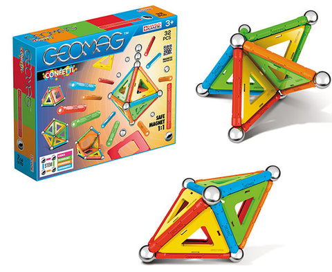 GEOMAG CONFETTI 32 PCS 3+ GM350 - Wild Willy - Toys Lebanon