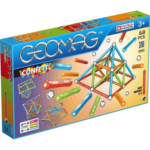 GEOMAG CONFETTI 68 PCS 3+ GM355 - Wild Willy