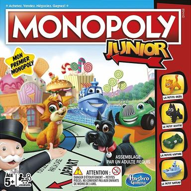 Hasbro – Monopoly Junior Board Game – French - Wild Willy - Toys Lebanon