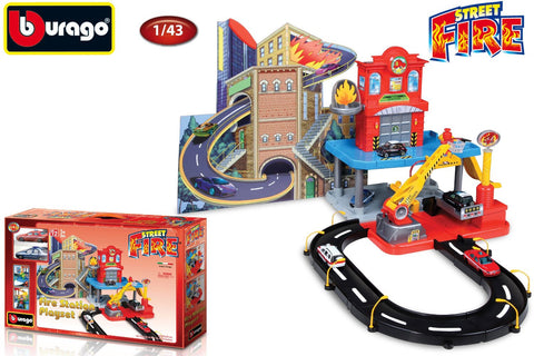 Bburago Fire Station Playset With 2 Cars - Wild Willy