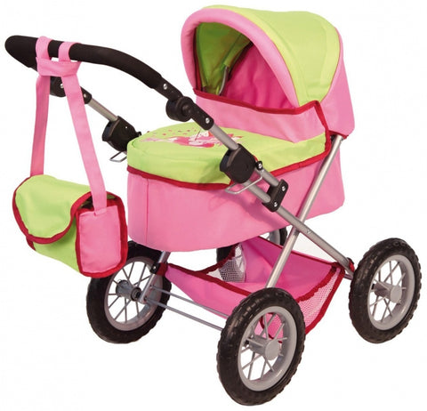 Bayer TRENDY PRAM 39-68CM 3Y+ PINK/GREEN