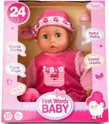 BAYER FIRST WORDS BABY 24FN 46CM 10M+ - Wild Willy - Toys Lebanon