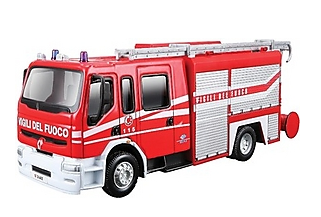 Bburago Renault Premium Fire Engine - Wild Willy - Toys Lebanon