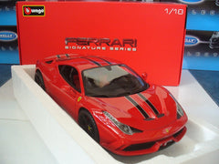 Bburago FERRARI 458 SPECIALE RED SIGNATURE - Wild Willy