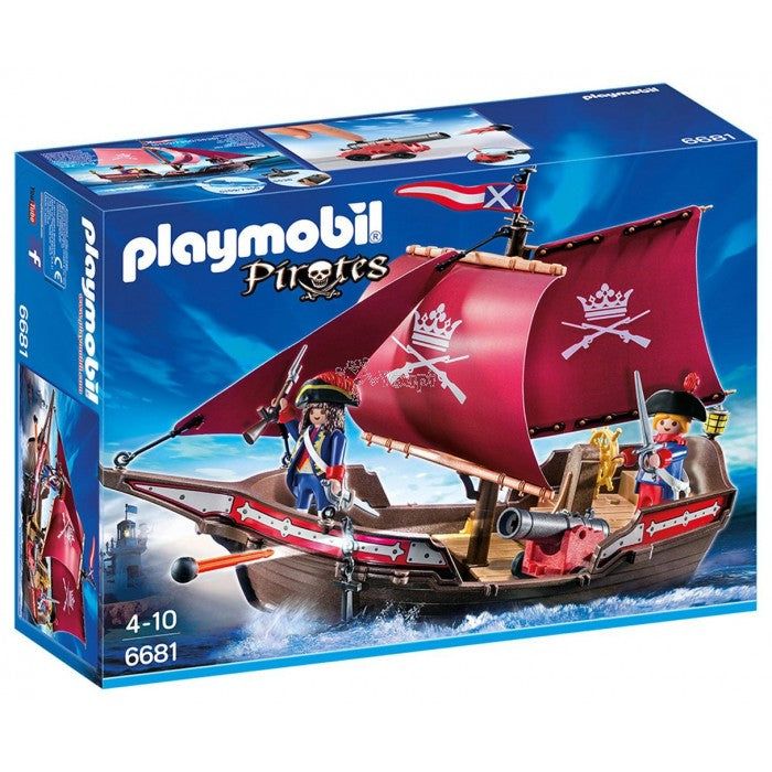 Playmobil Pirates Chaloupe des soldats 6681 - Wild Willy