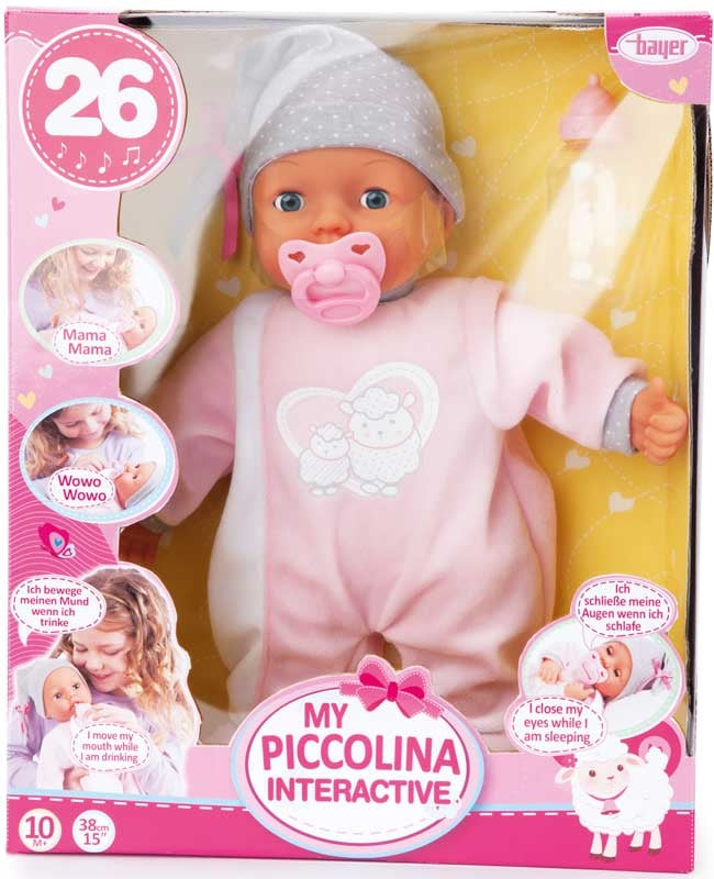 BAYER MY PICCOLINA INTERACTIVE DOLL 38CM 26FN 10M+ 93829AA - Wild Willy - Toys Lebanon