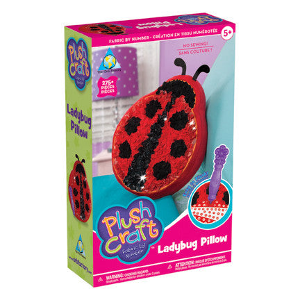 The Orb Factory - Plush Craft: Lady Bug Pillow - Wild Willy