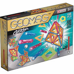 GEOMAG GLITTER 68 PCS 3+ ( GM533 ) - Wild Willy - Toys Lebanon