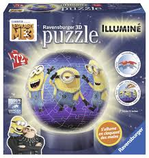 RB PUZZLE MINIONS ILLUMINE 3D 72PCS 9+ - Wild Willy - Toys Lebanon