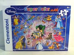CL 60PCS SUPERCOLOR MAXI DISNEY CHARACTERS 4+ 68*48CM - Wild Willy - Toys Lebanon