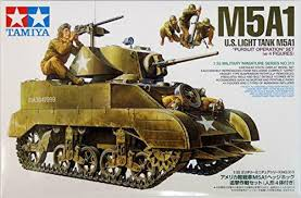 Tamiya M5A1 US LIGHT TANK W 4 FIGURES ( TY35313 ) - Wild Willy - Toys Lebanon