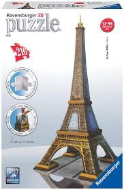 Eiffel Tower 3D Puzzle 216 pc - Wild Willy - Toys Lebanon