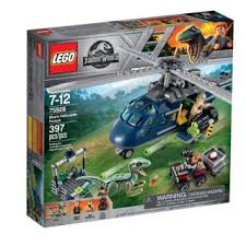 LG JURASSIC WORLD BLUE,S HELICOPTER PURSUIT 75928 7-12 - Wild Willy - Toys Lebanon