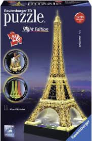 Eiffel Tower Night Edition 216 Piece 3D Puzzle - Wild Willy
