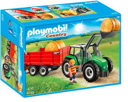 PM FARM LARGE TRACTOR WITH TRAILER (6130) - Wild Willy - Toys Lebanon