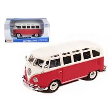 MS VOLKSWAGEN VAN SAMBA WHITE/RED 1:24 - Wild Willy