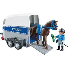 PM POLICE WITH HORSE AND TRAILER (6922) - Wild Willy - Toys Lebanon
