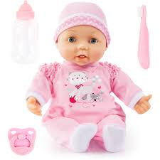 BAYER  MAGIC TEETH DOLL 38CM 26FN PINK DRESS 18M+ 93842AF - Wild Willy - Toys Lebanon