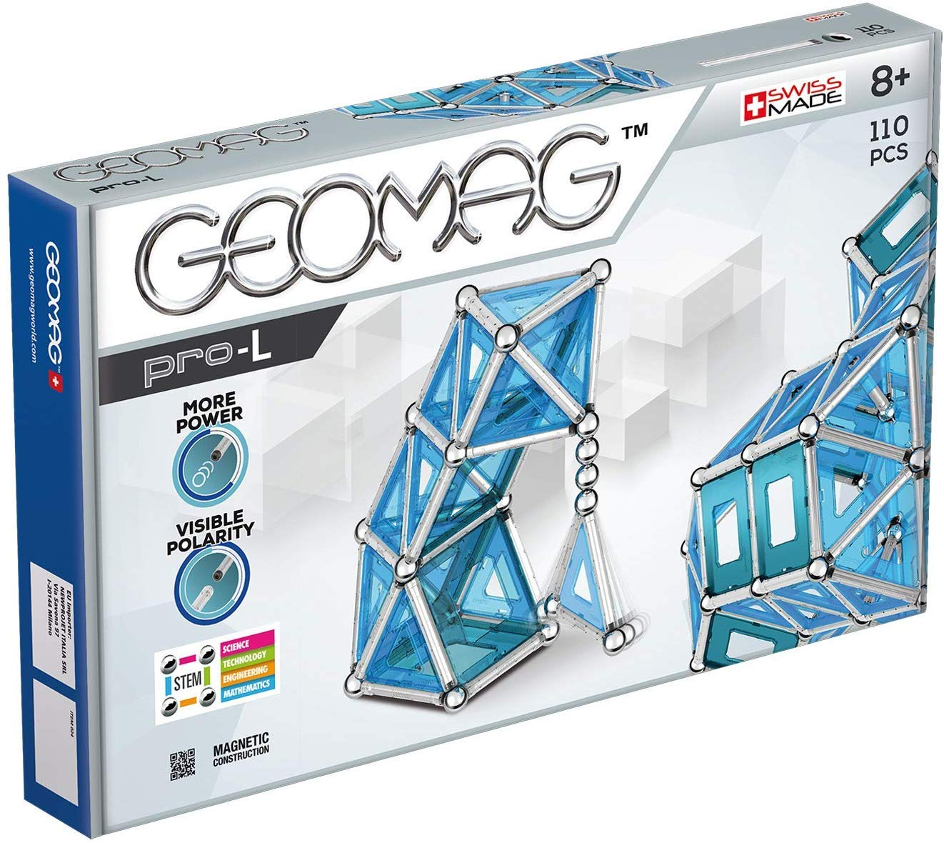 GEOMAG PRO COLOR 110PCS GM024 - Wild Willy - Toys Lebanon