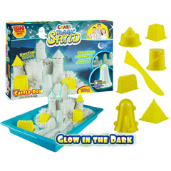 CRAZE MAGIC SAND CASTLE BOX GLOW IN DARKSET 700GR 8 SHAPES - Wild Willy - Toys Lebanon