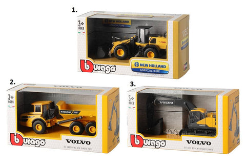 BU VOLVO NEW HOLLAND CONSTRUCTION SERIES 3+ ASST 32086/32085 - Wild Willy - Toys Lebanon