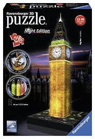 Big Ben 3D Puzzle with Lights - Wild Willy - Toys Lebanon