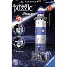Lighthouse Night Edition 216 Piece 3D Puzzle - Wild Willy