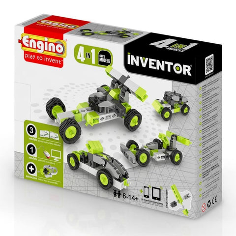 EN INVENTOR 4 MODEL CARS EN0431 - Wild Willy - Toys Lebanon