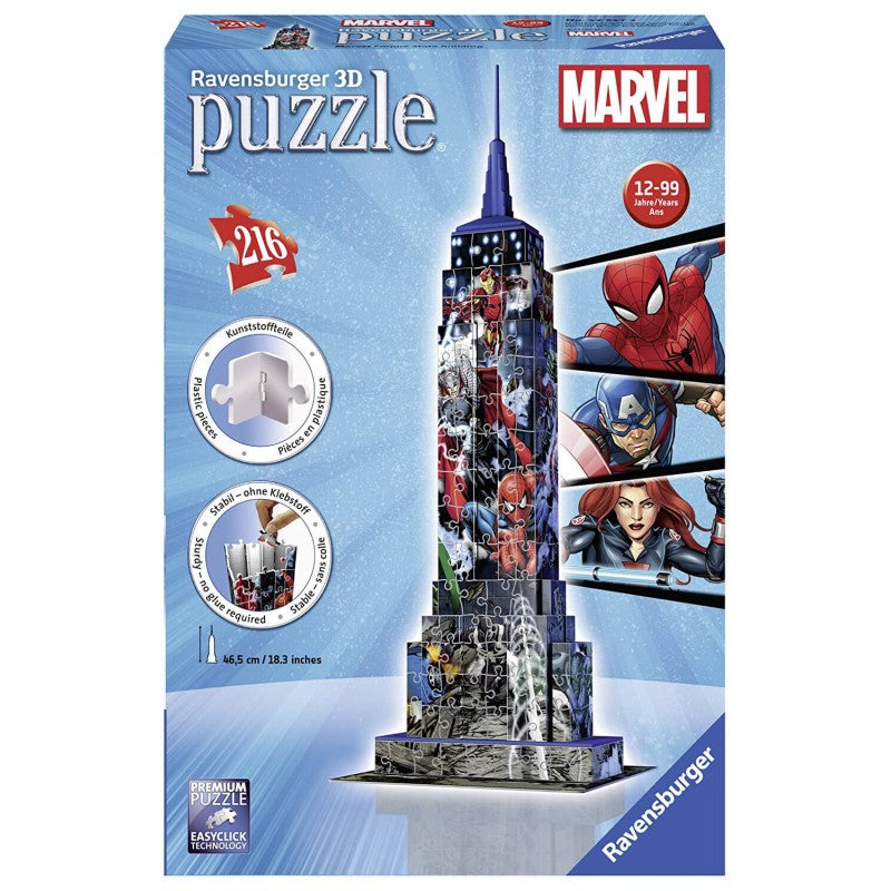 RB PUZZLE 3D MARVEL EMPIRE STATE BUILDING 10+ - Wild Willy - Toys Lebanon