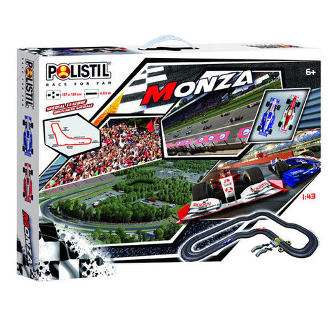 Polistil  SLOT CAR SET WITH 2 FORMULA RACING CARS - Wild Willy - Toys Lebanon