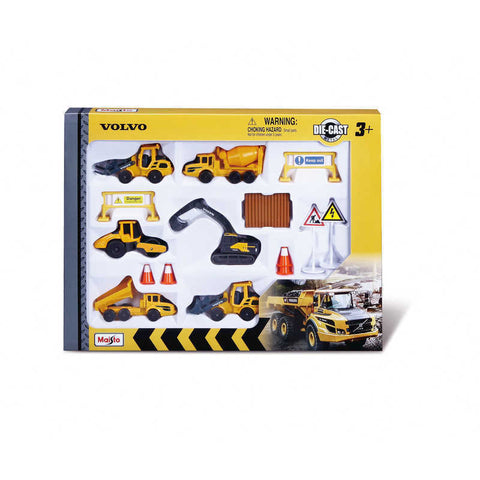 "MS FM 3"" VOLVO HEAVY MACHINES PLAYSET - Wild Willy - Toys Lebanon"