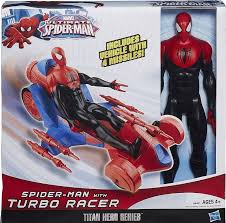 Spider-man with turbo racer