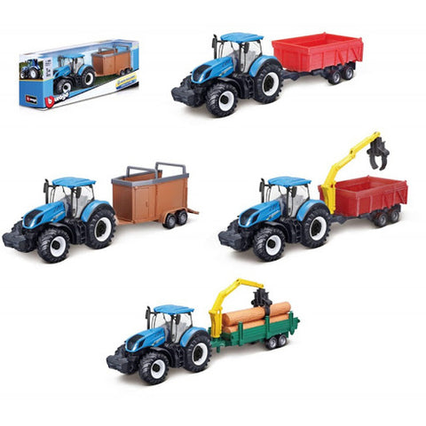BU 1/50 FARM TRACTOR & TRAILER - Wild Willy - Toys Lebanon