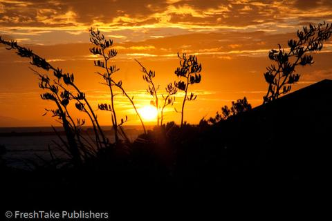Photo of sunset at Cape Palliser, Wairarapa, New Zealand