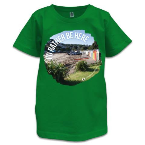 Photo of Green NZ Children's T-Shirt - I'd Rather Be Here