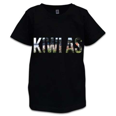 Photo of Black NZ Children's T-Shirt - Kiwi As