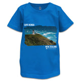 Blue NZ Children's T-Shirt - Photo of Cape Reinga, NZ