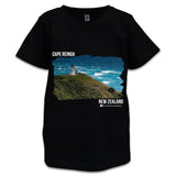 Black NZ Children's T-Shirt - Photo of Cape Reinga, NZ