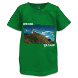 Green NZ Children's T-Shirt - Photo of Cape Reinga, NZ