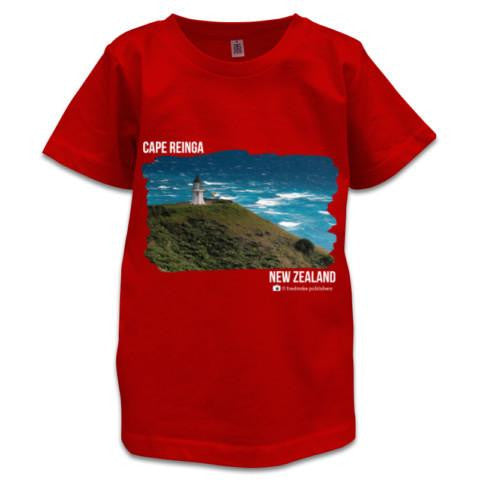 Red NZ Children's T-Shirt - Photo of Cape Reinga, NZ