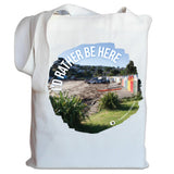 "Photo of a White NZ Canvas Bag - ""I'D Rather Be Here"""