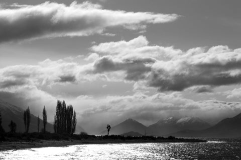 Black and White Photo of Mt Nicholas Station, Queenstown, New Zealand