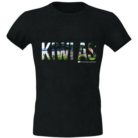 Women's black NZ Tee Shirt -Kiwi as