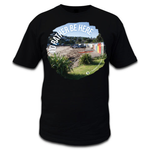 Photo of NZ Men's Black T-shirt - I'd Rather Be Here