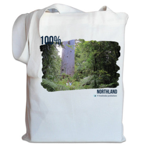 "Photo of a white NZ Canvas Bag ""100% Northland"""