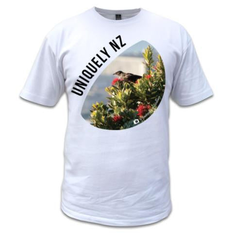 Photo of White New Zealand Mens T-shirt - Uniquely NZ