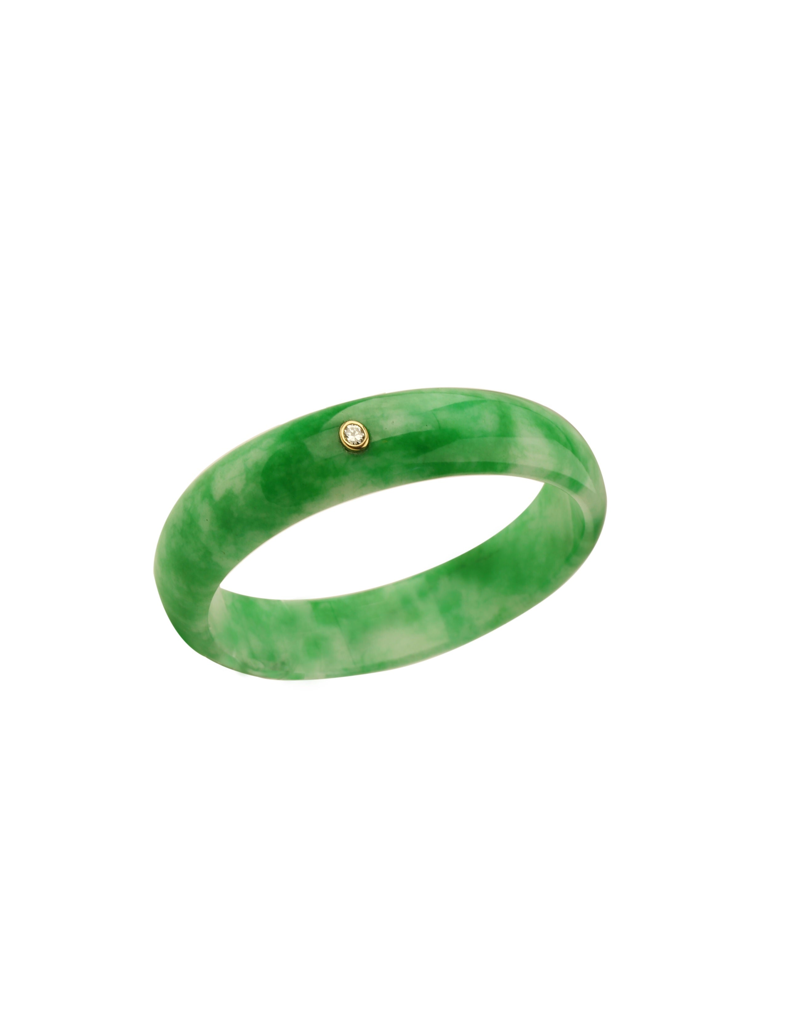 Jade Bracelet with Diamond
